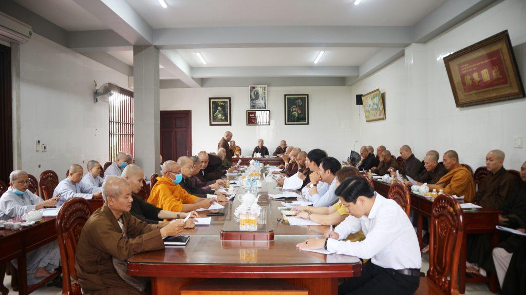 Bến Tre: Ban Trị Sự GHPGVN tỉnh họp báo cáo công tác Phật sự quý I và triển khai chương trình hoạt động quý II, năm 2020