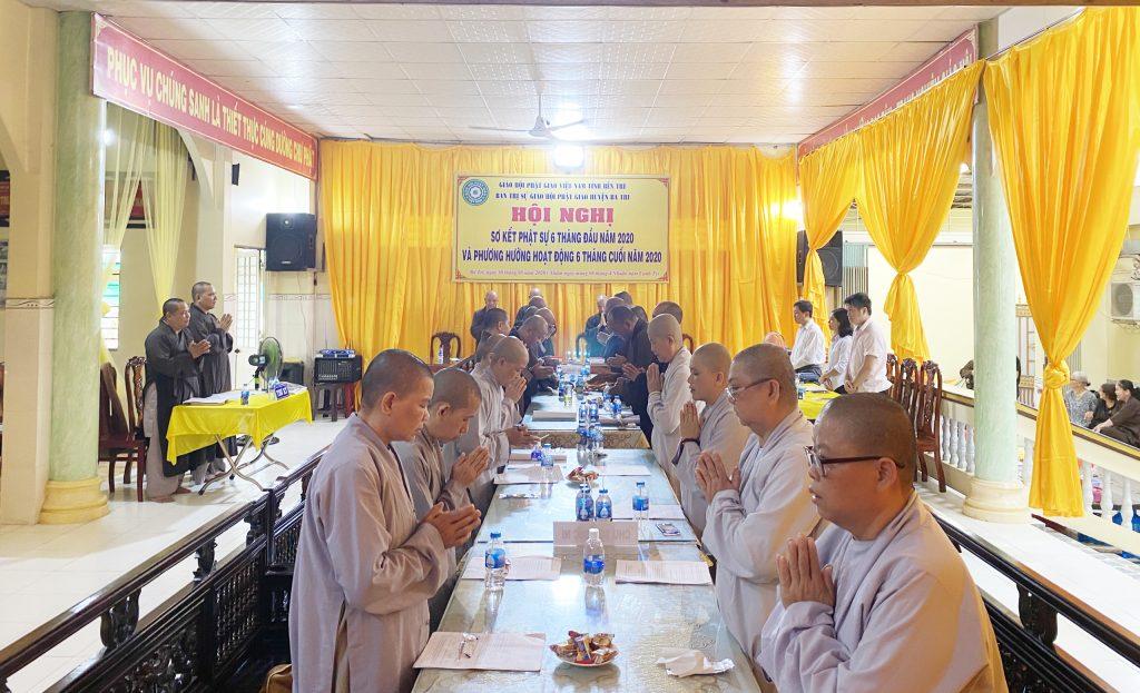 Bến Tre: Ban Trị sự GHPGVN huyện Ba Tri – Hội nghị Sơ kết Phật sự 06 tháng và triển khai kế hoạch hoạt động 6 tháng cuối năm 2020