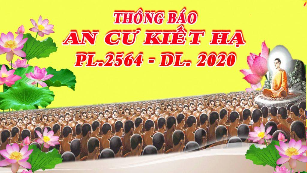 Bến Tre: Thông báo V/v tổ chức An cư Kiết Hạ PL.2564 – PL.2020