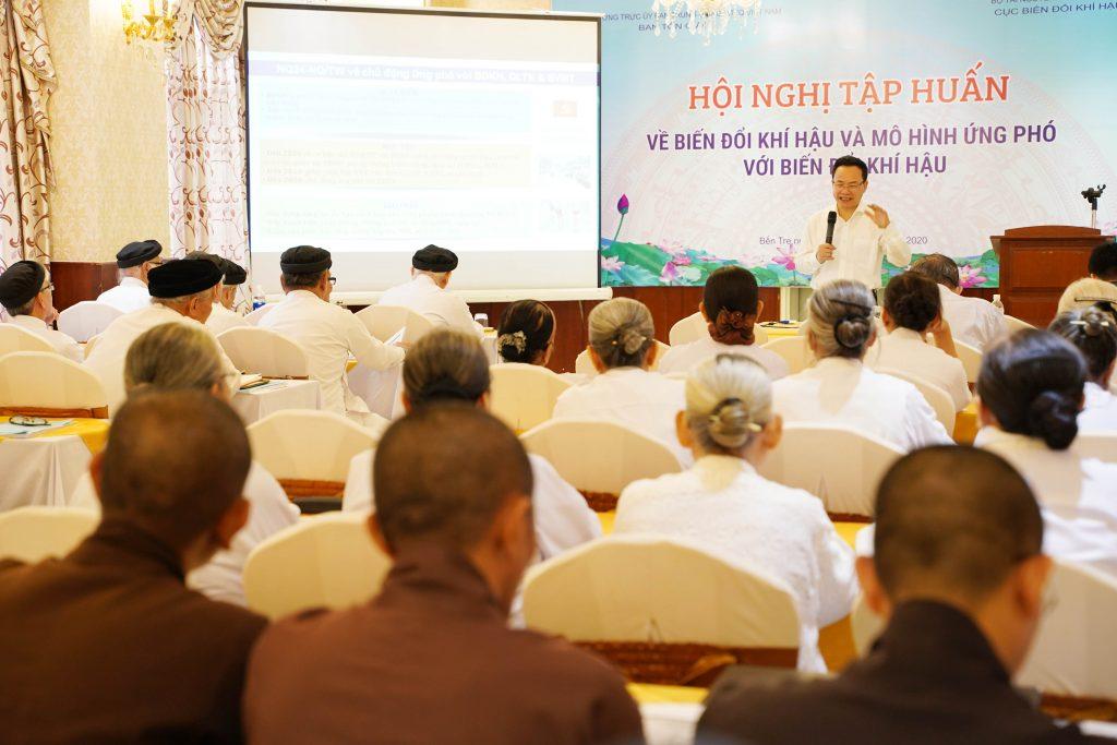 Bến Tre: Hội Nghị ngày thứ 02, tại khóa tập huấn về biến đổi khí hậu và kỹ năng ứng phó cho chức sắc tôn giáo trên địa bàn tỉnh