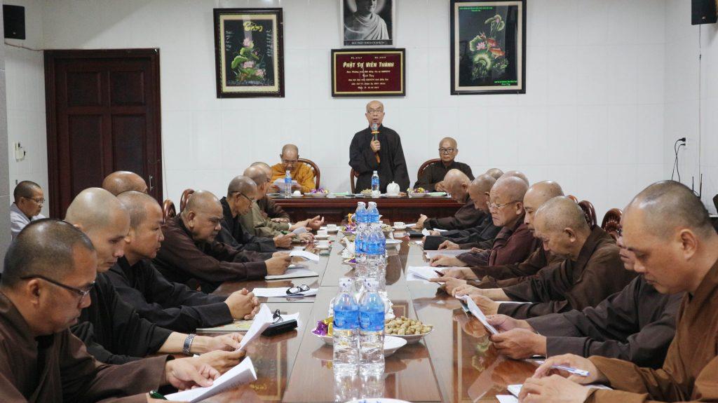 Bến Tre: Ban Trị sự GHPVN tỉnh họp sơ kết công tác Phật sự 06 tháng đầu năm 2020