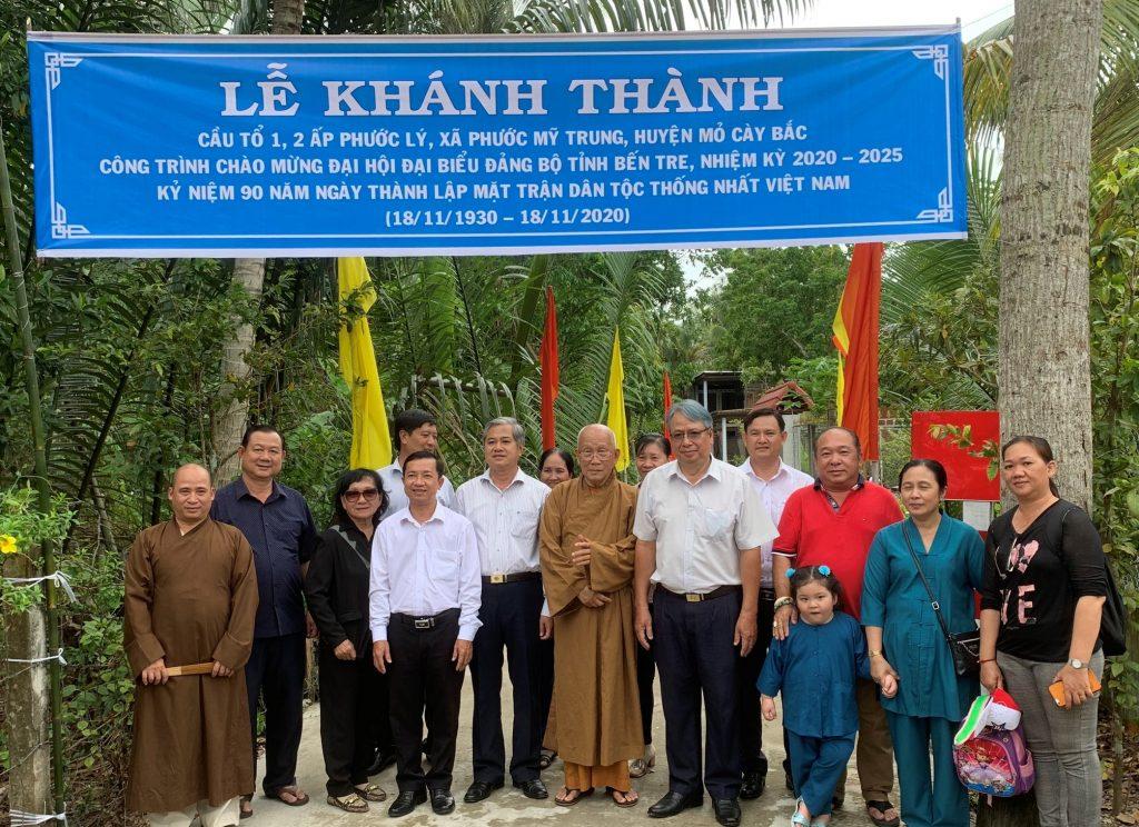Bến Tre -Khánh thành cầu nông thôn Tổ NDTQ số 1- 2- huyện Mỏ Cày Bắc