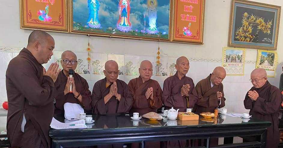 Bến Tre: Ban Trị Sự GHPGVN huyện Châu Thành diễn ra phiên họp hiệp thương nhân sự nhiệm kỳ VII (2021-2026)