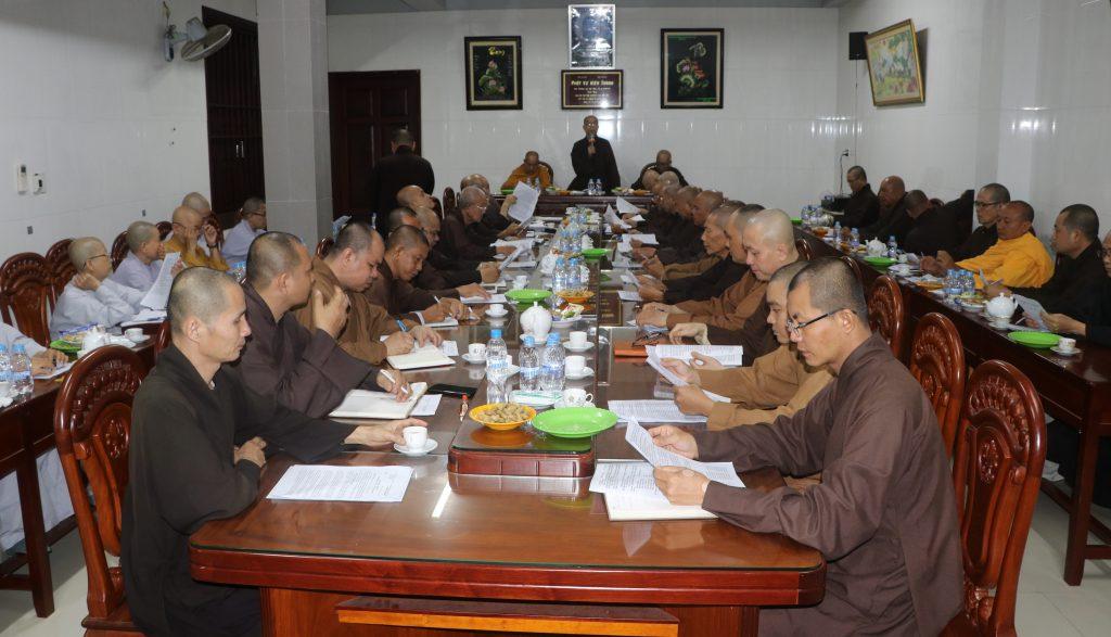 Bến Tre: Ban Trị sự GHPGVN tỉnh họp báo cáo công tác Phật sự quý III, năm 2020