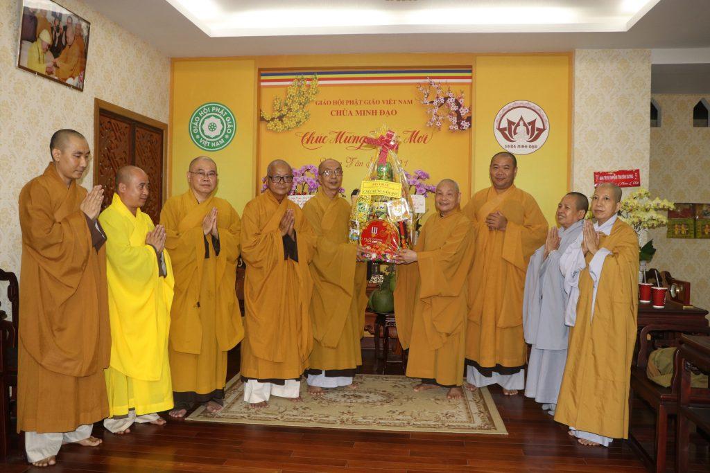 Bến Tre: Phật giáo Bến Tre và lãnh đạo các ban, ngành chúc tết chư tôn giáo phẩm HĐTS