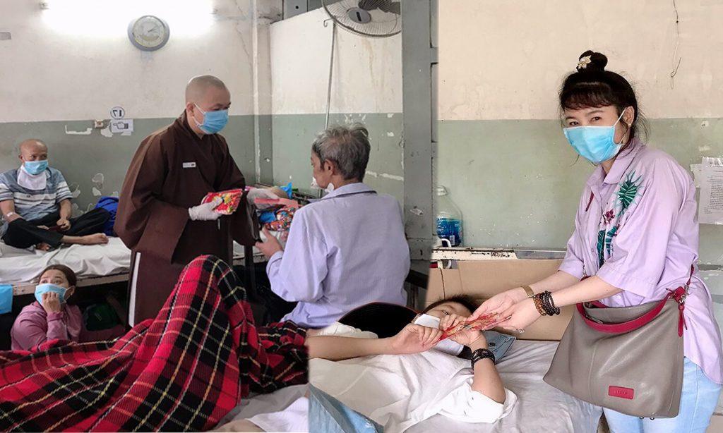 Bến Tre: Đại Đức Thích Huệ Định và Phật tử tặng quà 203 quà Tết cho Bệnh nhân Ung bướu tại TP.HCM