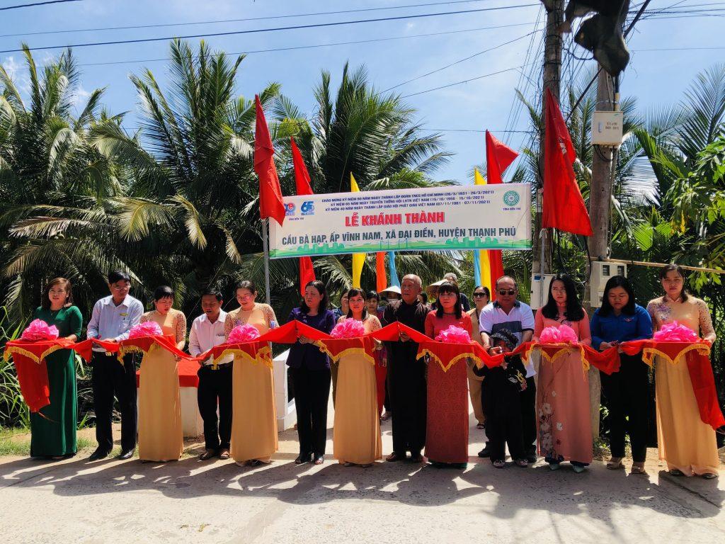 Bến Tre: Lễ khánh thành cầu giao thông nông thôn – Chào mừng kỉ niệm 40 năm thành lập GHPGVN