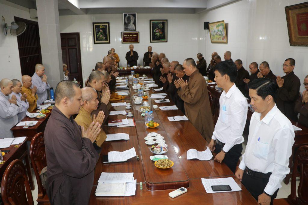 Bến Tre: Ban Trị sự GHPGVN tỉnh họp báo cáo công tác Phật sự Quý I – năm 2021