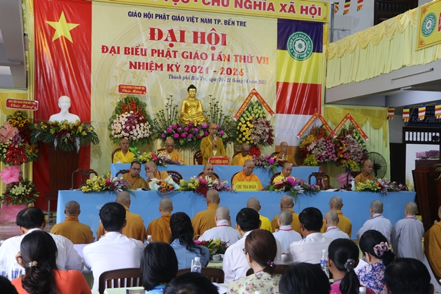 Bến Tre: Khai mạc Đại hội đại biểu Phật giáo TP. Bến Tre nhiệm kỳ VII (2021-2026)