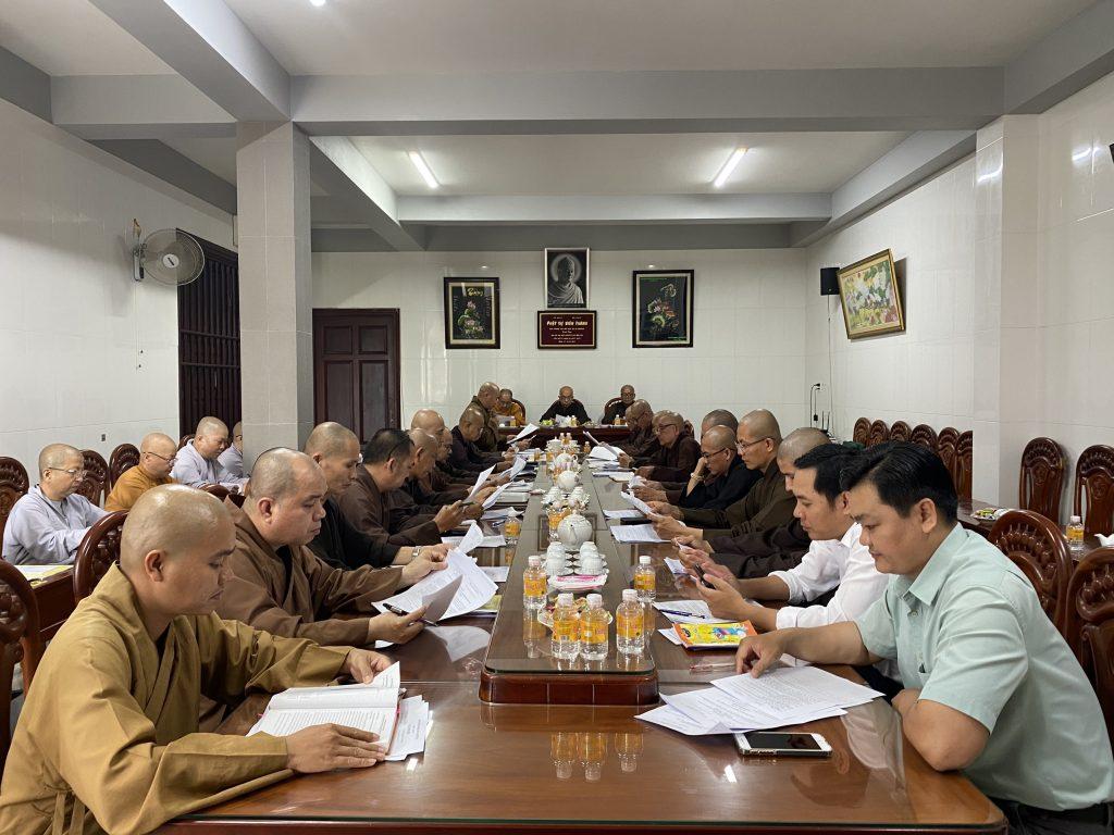 Bến Tre: Ban Trị sự GHPGVN tỉnh họp báo cáo công tác Phật sự tháng 03, năm 2021