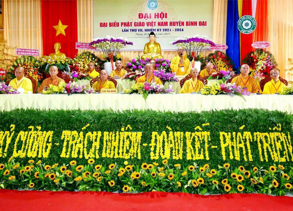 Bến Tre: Đại hội đại biểu Phật giáo huyện Bình Đại nhiệm kỳ VII (2021-2026)