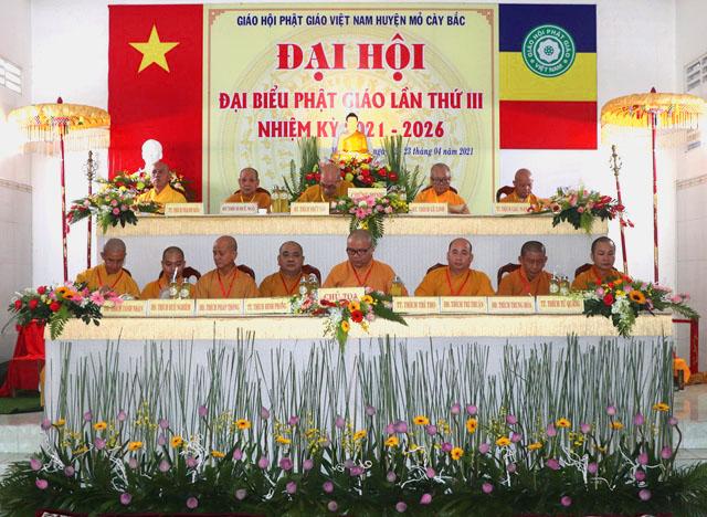 Bến Tre: Đại hội Đại biểu Phật giáo huyện Mỏ Cày Bắc nhiệm kỳ III (2021-2026)