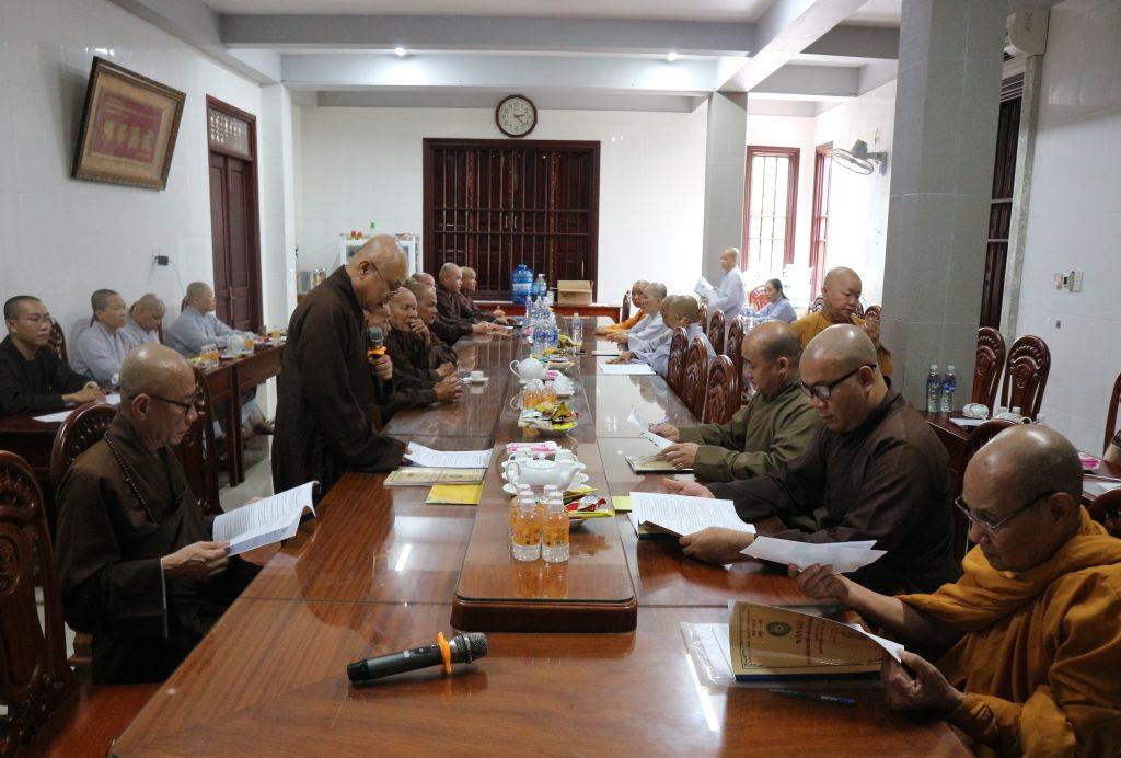 Bến Tre: Phiên họp Trù bị Đại biểu đại hội Phật giáo TP. Bến Tre nhiệm kỳ VII (2021-2026)