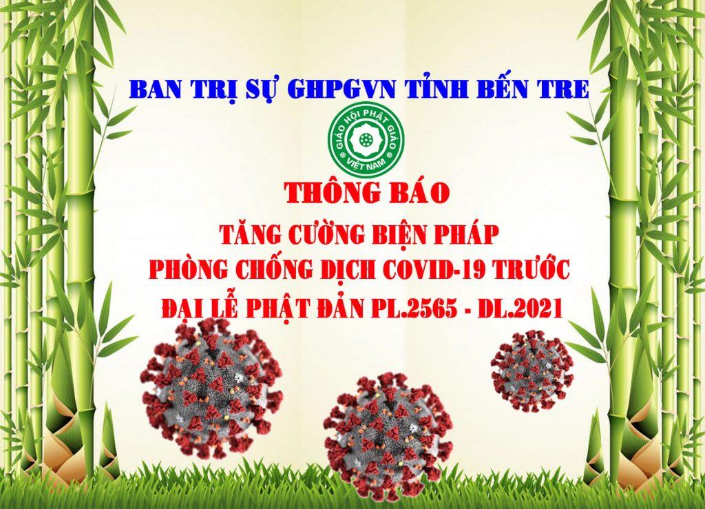 Bến Tre: Thông báo tăng cường biện pháp phòng chống dịch COVID-19 trước Đại lễ Phật Đản PL.2565-DL.2021