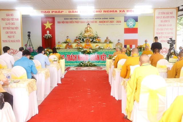 Bến Tre: Khai mạc Đại hội đại biểu Phật giáo huyện Giồng Trôm nhiệm kỳ VII (2021-2026)