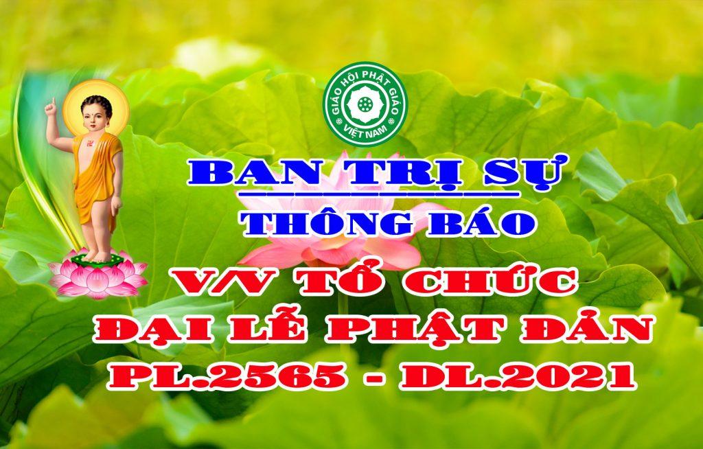 Bến Tre: Thông báo về việc tổ chức Đại lễ Phật Đản PL.2565-DL.2021