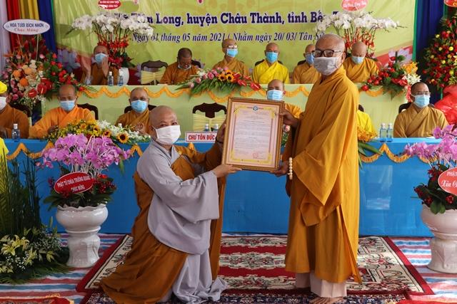 Bến Tre: Lễ trao quyết định bổ nhiệm trụ trì chùa Phúc An