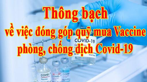 Bến Tre: Thông bạch về việc đóng góp quỹ mua Vaccine phòng, chống dịch Covid-19