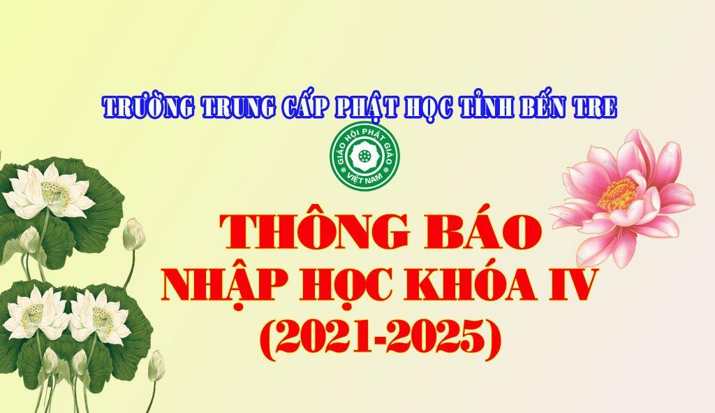 Bến Tre: Trường Trung cấp Phật học tỉnh  thông báo nhập học khóa IV (2021-2025)